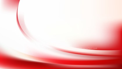 Abstract Red and White Wave Background