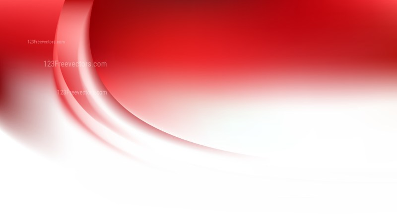 Abstract Red and White Wave Background Vector Image