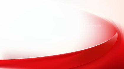 Glowing Red and White Wave Background Graphic