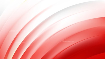 Red and White Curved Stripes Vector Image