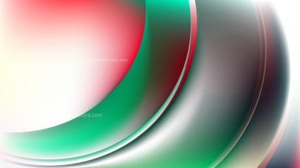 Abstract Glowing Red Green and White Wave Background Illustrator