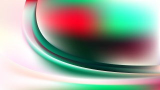 Glowing Red Green and White Wave Background