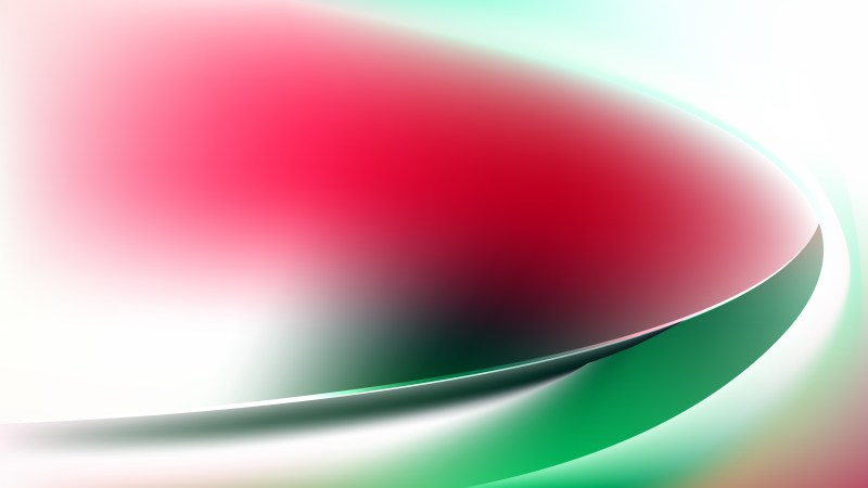 Abstract Glowing Red Green and White Wave Background Vector