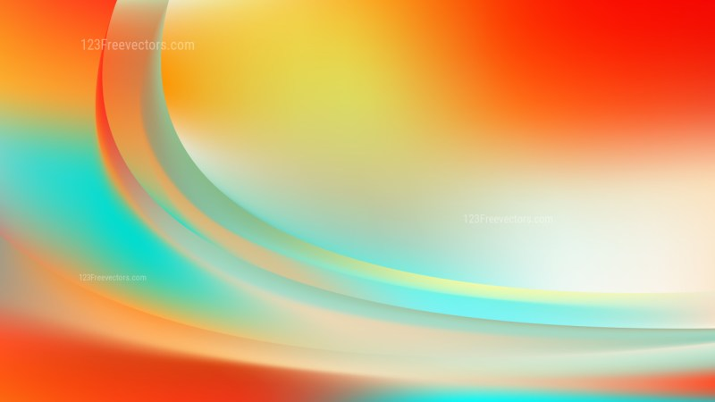 Glowing Abstract Red White and Blue Wave Background Vector Graphic