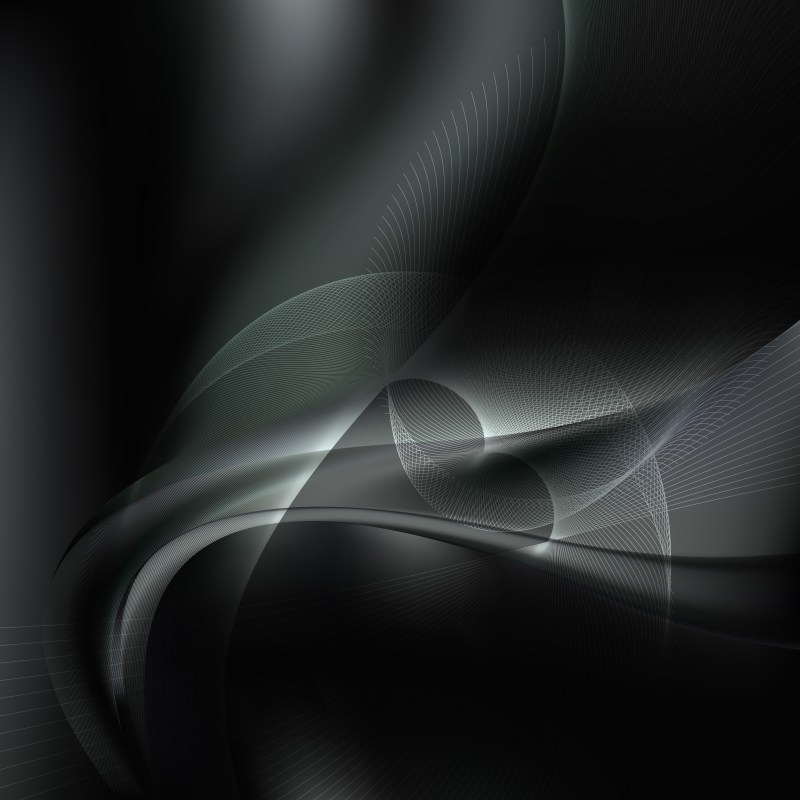 Abstract Black Wave Lines Background