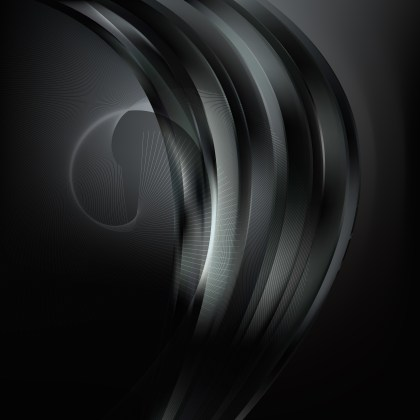 Abstract Black Flowing Lines Background Illustrator