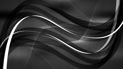 Black Flow Curves Background Vector Image