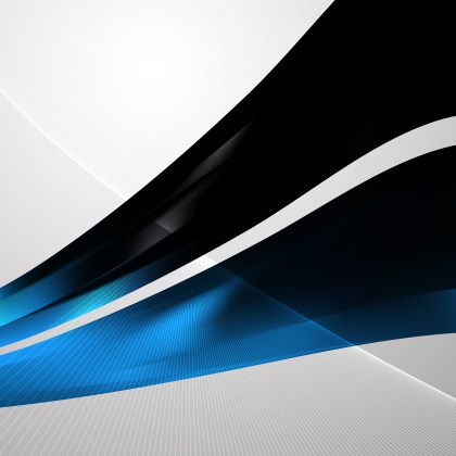 Black and Blue Flow Curves Background