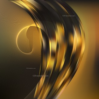 Black and Gold Curved Lines Background
