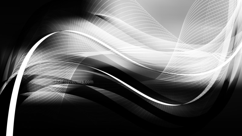 Black and Grey Curved Lines Background Vector Illustration