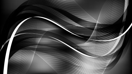 Black and Grey Wavy Lines Background Template