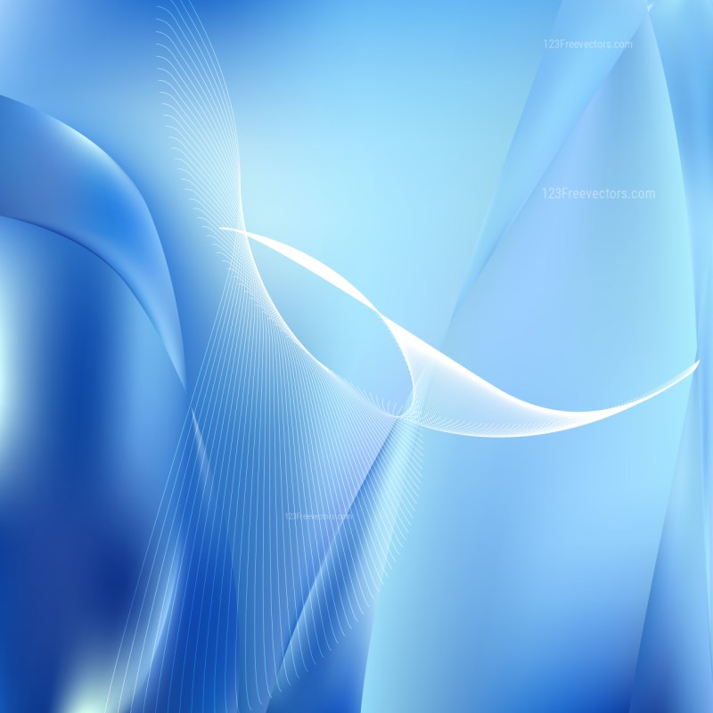 Abstract Blue Curved Lines Background