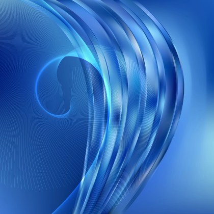 Abstract Blue Flowing Curves Background