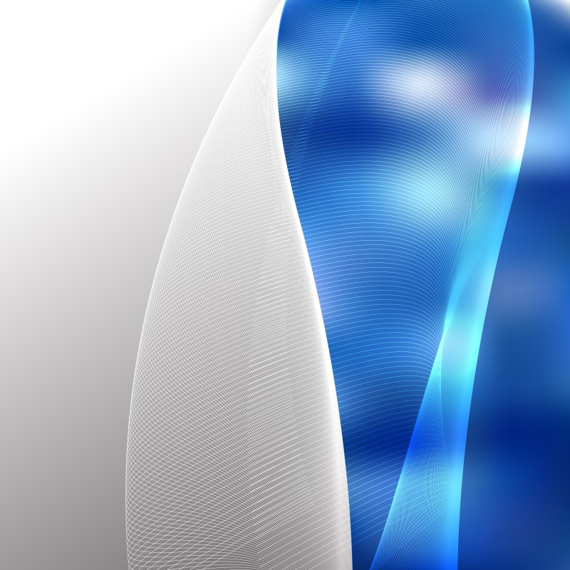 Blue Flowing Curves Background Vector Graphic