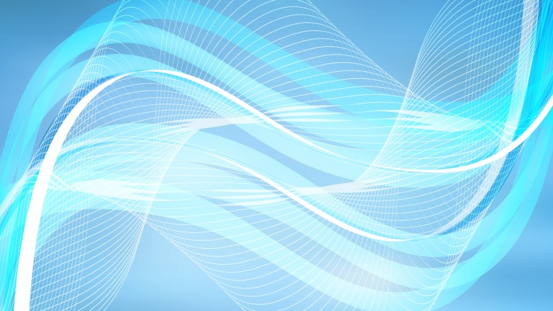 Blue Wavy Lines Background Template