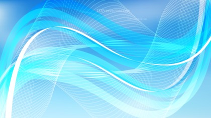 Abstract Blue Flowing Lines Background Illustrator