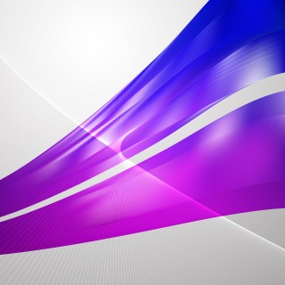 Blue and Purple Flow Curves Background Vector Image