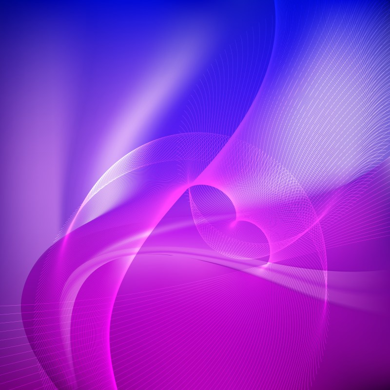 Abstract Blue and Purple Flowing Lines Background Illustrator