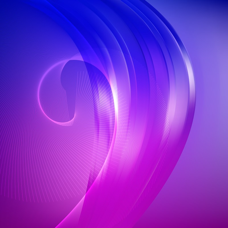 Abstract Blue and Purple Flowing Curves Background