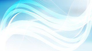 Abstract Blue and White Wavy Lines Background