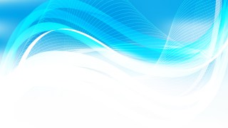 Abstract Blue and White Wavy Lines Background Template