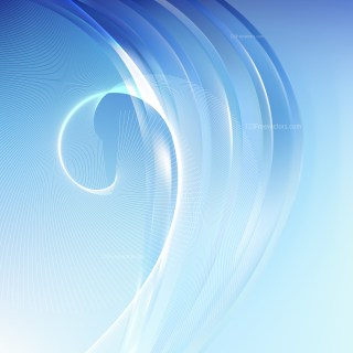Blue and White Wavy Lines Background