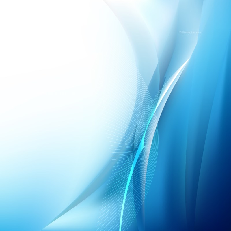 Blue and White Flowing Curves Background Vector Graphic