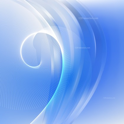 Blue and White Flow Curves Background Vector Image
