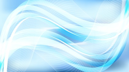 Abstract Blue and White Curved Lines Background Vector Illustration