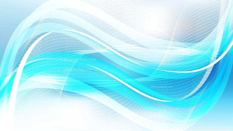 Abstract Blue and White Wave Lines Background Design Template