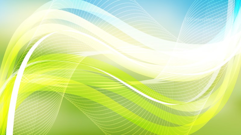 Abstract Blue Green and White Flow Curves Background