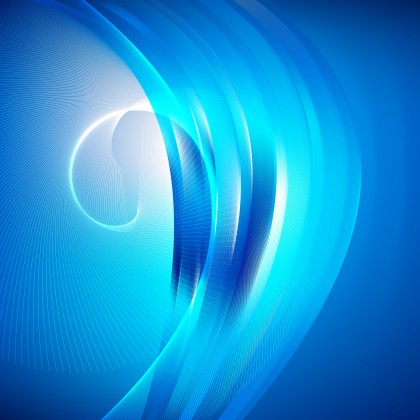 Bright Blue Flowing Curves Background