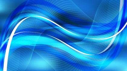 Abstract Bright Blue Curved Lines Background Vector Illustration