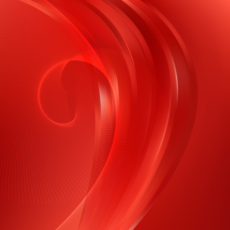 Bright Red Flowing Lines Background Illustrator