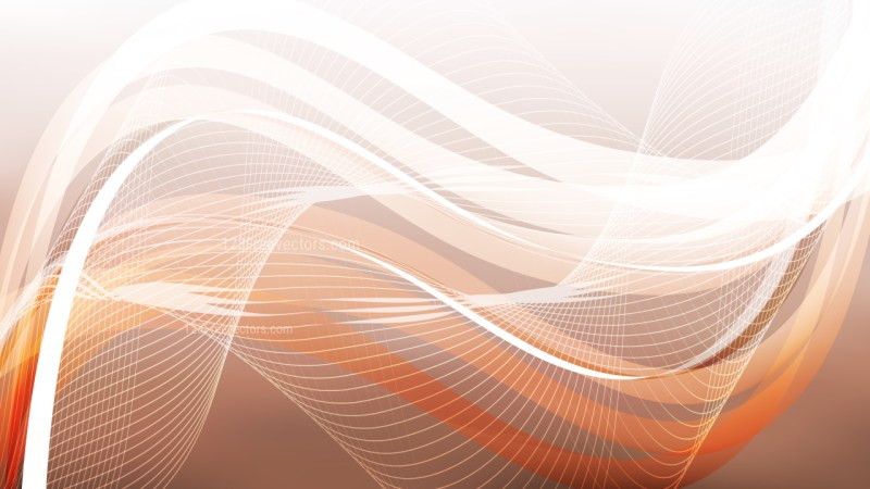Abstract Brown and White Flowing Curves Background