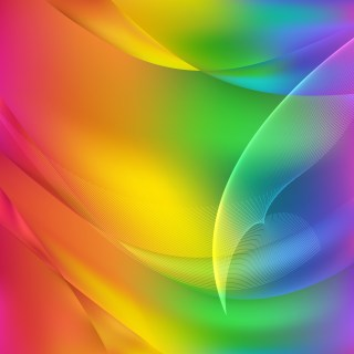 Abstract Colorful Flow Curves Background