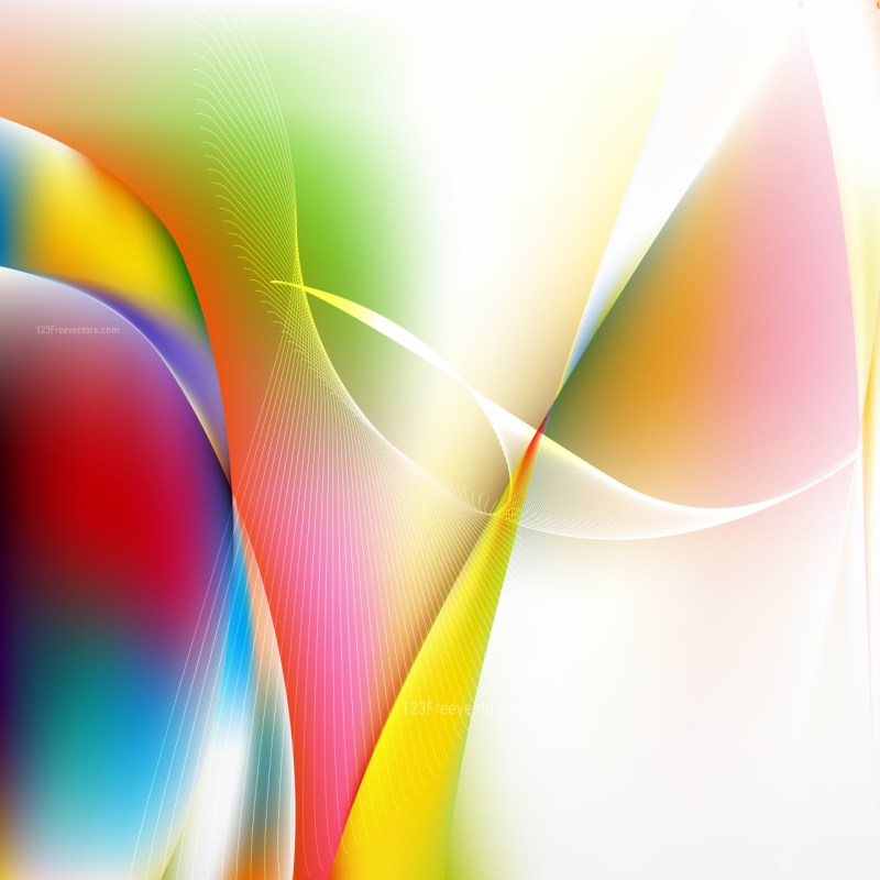 Abstract Colorful Wave Lines Background Design Template