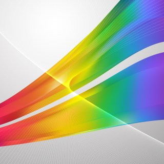 Colorful Flowing Curves Background