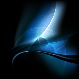 Cool Blue Wavy Lines Background