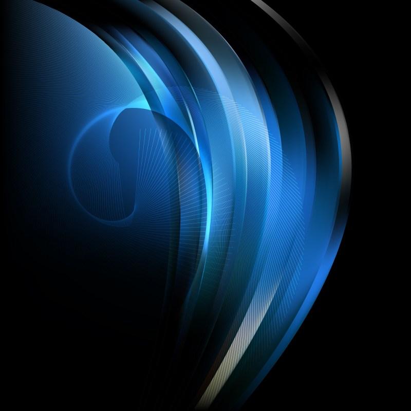 Cool Blue Flow Curves Background