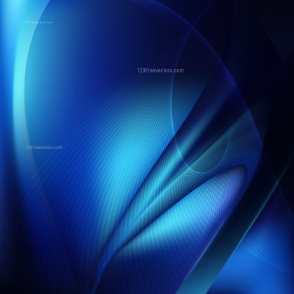 Cool Blue Flowing Lines Background