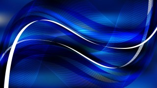 Cool Blue Wavy Lines Background Template