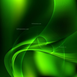 Abstract Cool Green Wavy Lines Background