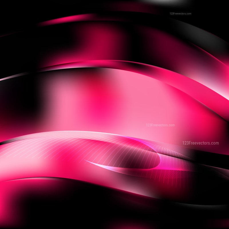 Abstract Cool Pink Flowing Lines Background Illustrator