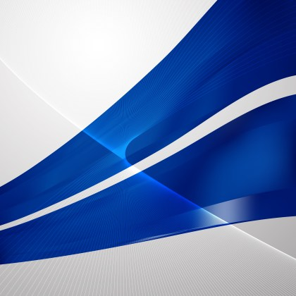 Dark Blue Flowing Curves Background