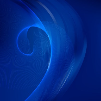 Abstract Dark Blue Curved Lines Background Vector Illustration