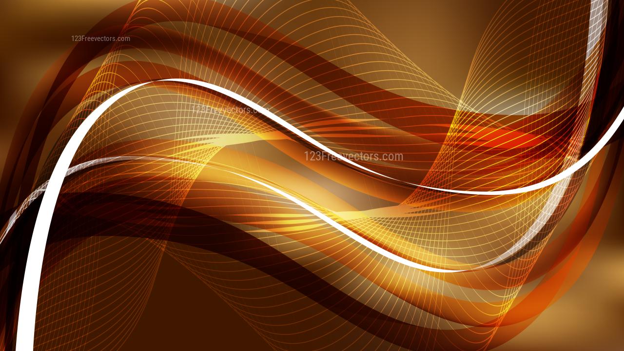 Abstract Dark Brown Wave Design Background
