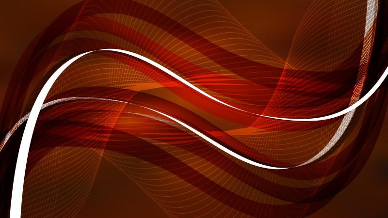 Dark Brown Wave Lines Background