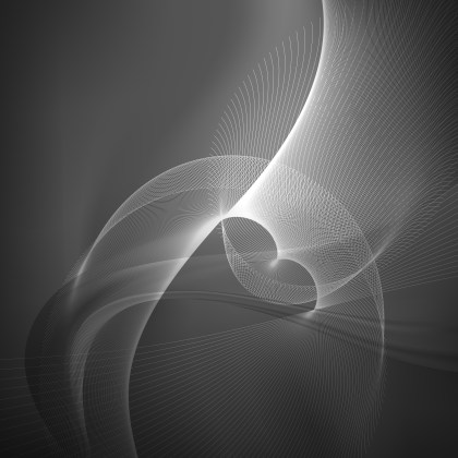 Abstract Dark Grey Flow Curves Background Vector Image