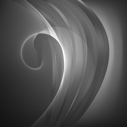 Abstract Dark Grey Flowing Curves Background